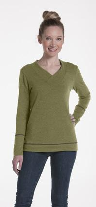 Honeysuckle Sweater Style: LSRVV The Honeysuckle s elegant v-neck collar with classic rib detail teams up with our signature faux-cuffed longsleeve design to bring you a sweater that s simple, yet