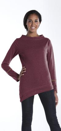 Azalea Boat Neck Top Style: LTPBN Azalea s asymmetrical, layered hemline and ribbed boat-neck make it sure to stand out.