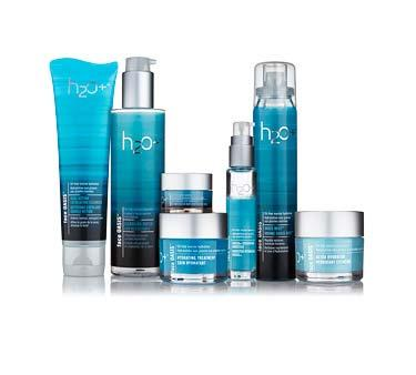 H2O+ The H2O+ line of products is formulated from natural sea-derived ingredients such as seaweed and are sold through a network of 2,300 locations in 24 countries, primarily in North America and