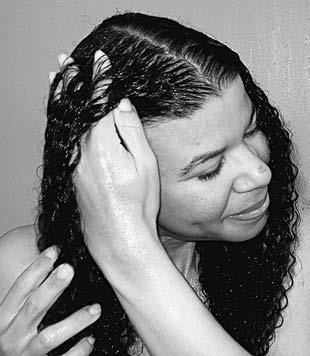 You need to use a generous amount your curls are thick, and more is needed to coat them. Squeeze more conditioner into the ends of your hair.