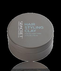 HAIR STYLING CLAY HAIR Hair type For all hair types. Provides a strong yet flexible hold that allows easy hair molding.
