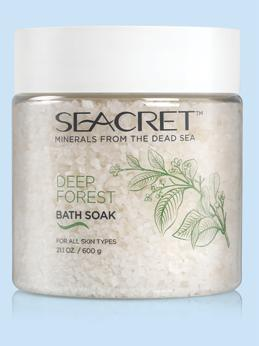 BATH SOAK DEEP FOREST BODY Nourishing and soothing natural bath salts for creating a relaxing home-spa effect. Add a handful of salt to warm bathwater. Soak the skin as needed.