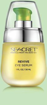REVIVE EYE SERUM Normal to dry skin / prematurely ageing skin. Highly concentrated nourishing formula for the eye area, with an ultra-smooth silky texture. Apply to clean, dry skin of the eye area.