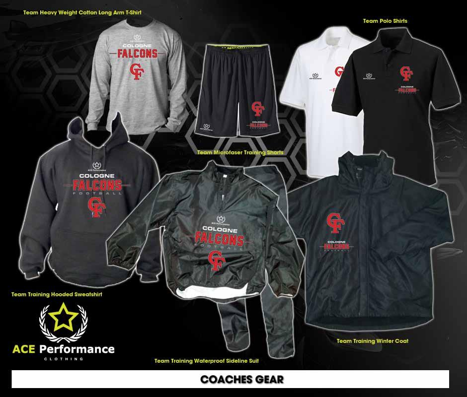 COACHES BASICS PACKAGE 3: 1 Team Training Hooded Sweatshirt 59.90 1 Blizzard Team training Winter Coat 99.90 1 White Polyester Team Polo Shirt 34.90 1 Second Color Polyester Team Polo Shirt 34.