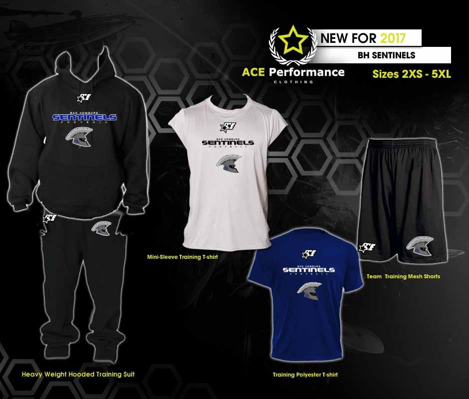 PLAYER BASICS PACKAGE 4: 1 Heavy weight Hooded Training Suit 109.90 1 Mini Sleeve Polyester Performance T-Shirt. 24.
