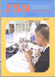 JSN International: International Journals for the e sewing Industry Publisher: JSN International, Inc Issue/Year: June 2016 Special Report: Sales of Eton Systems Rapidly Growing Sewing Market Growing