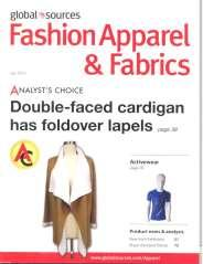 Fashion Apparel & Fabrics Publisher: Global Sources, Hong Kong Issue/Year: July 2016 Double-faced cardigan has foldover lapels Backless wedding gown with applique ruffles Knitted shift dress has