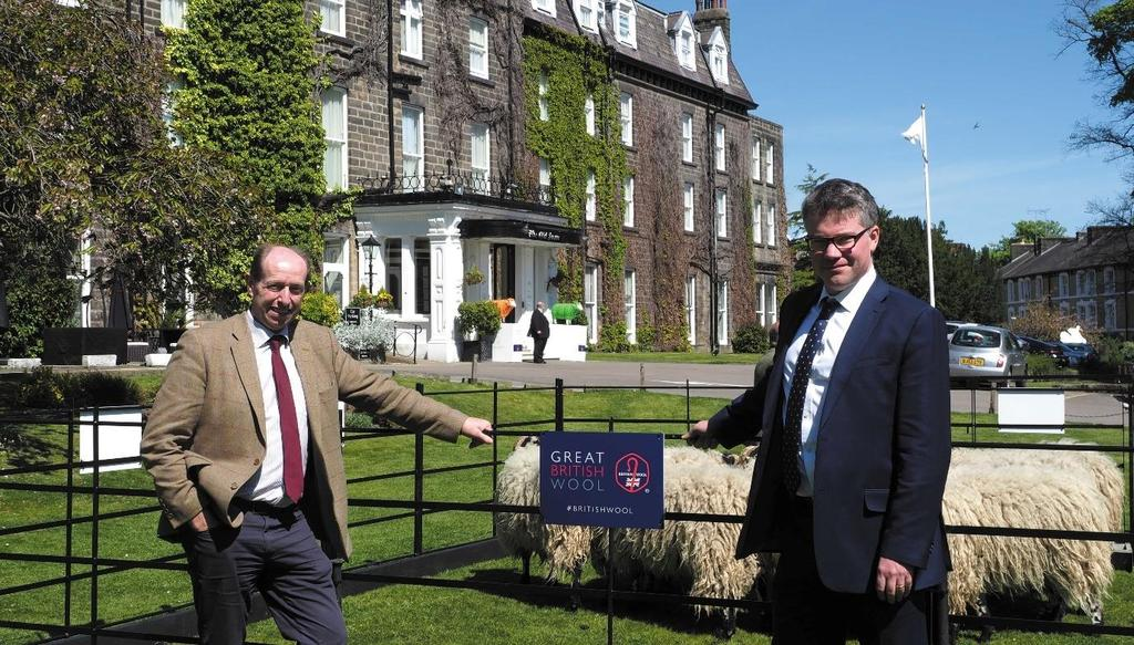 FOR IMMEDIATE RELEASE Wool in a Digital Age Telling wool's timeless story at the IWTO Congress British Wools Chair Ian Buchanan and CEO Joe Farren with Dalesbred sheep at the IWTO Congress BRUSSELS,