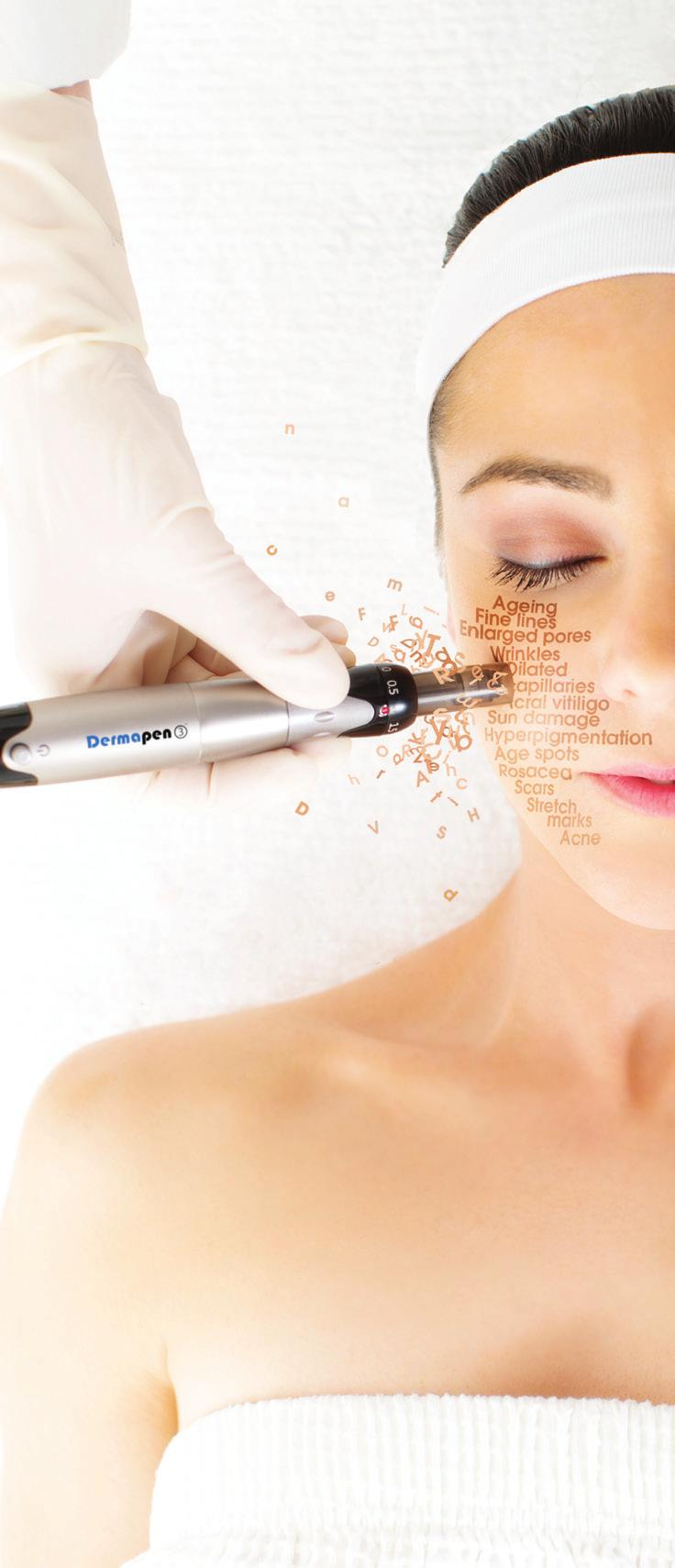 DP DERMACEUTICAL S THE CHOICE The daily use of DP Dermaceuticals and regular treatments with Dermapen enable long lasting correction and skin fortification.