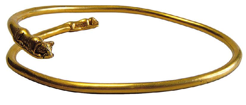 2010] EARLY NOMADIC BURIALS AT FILIPPOVKA, RUSSIA 137 Fig. 11. Golden neck ring from Kurgan 4, Burial 2 (A. Mirzakhanov).