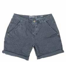 6221 Devon Short Dirty Blue indigo print HS17.19.