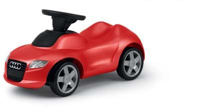 Kids 083 2 Audi mini quattro Kids toy car with steering wheel horn. Includes low-noise tyres and a tow bar. Dimensions: 74 x 38 x 30 cm Red 320.06.