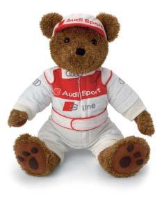 Cap and racing suit made of 100 % cotton. Size: 40 cm 320.06.002.00 6 Motorsport bear key ring With metal split ring.