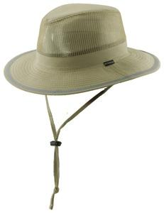 with Mesh Sides 3 Brim - Khaki OUTDOOR