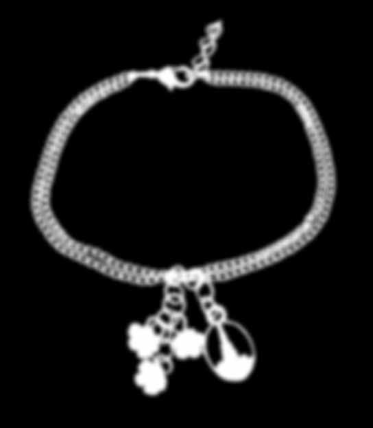 "1 /2"", on 18-20"" Temple Blossom Bracelet JRY289 silver"