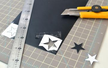 the number of points in the star, and also hold down the 'alt' key for a star with parallel lines.