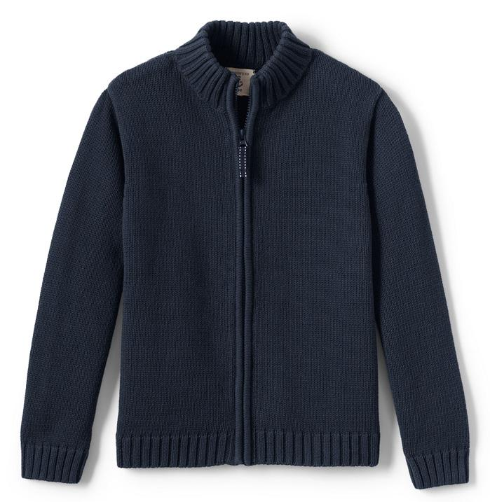 Cardigan, Navy Boys Long Sleeve No Iron Pinpoint, White Boys Short