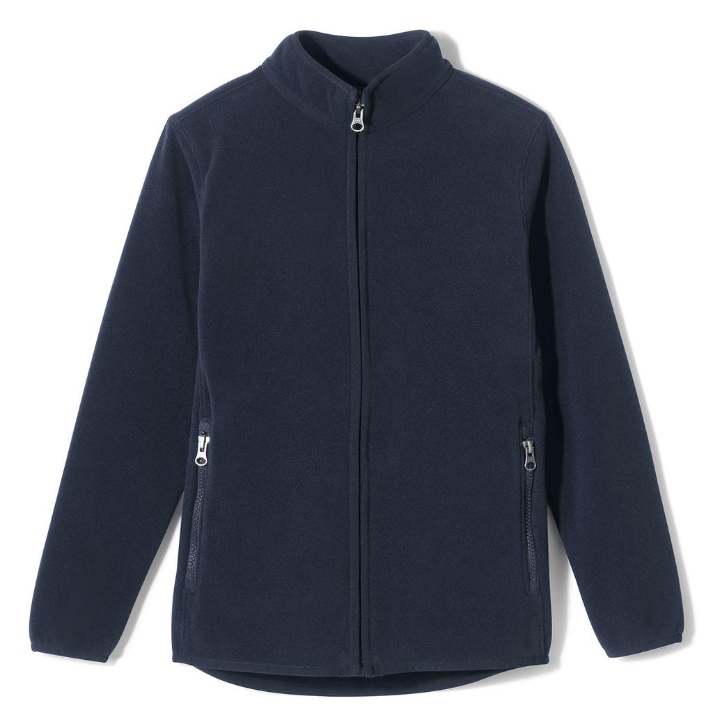 optional) Fleece Jacket, Navy (logo required) School Uniform