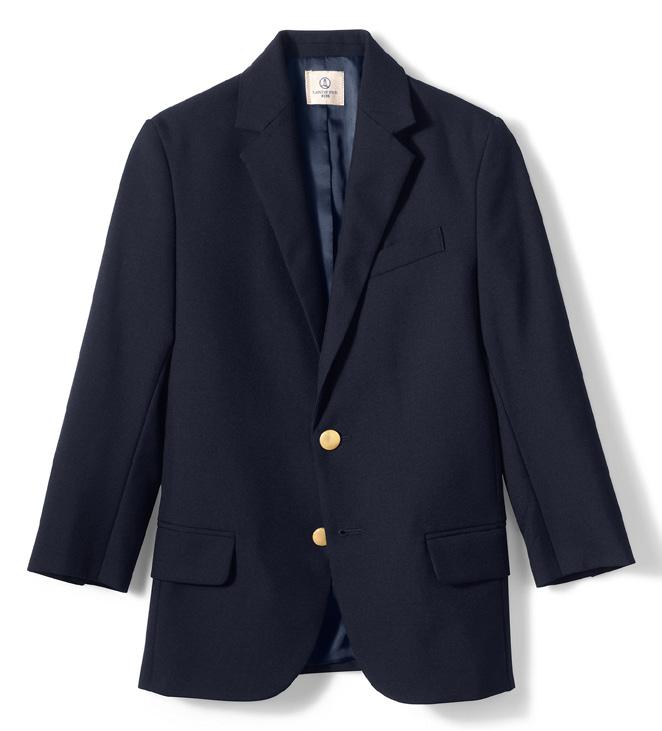 BOYS DRESS UNIFORMS 6TH Boys Hopsack Blazer, Navy (logo required) Kids Striped To Be Tied Tie, Classic Navy/Gold Stripe Boys Plain Front Tailored Chino, Khaki Boys Long Sleeve No Iron Pinpoint, White