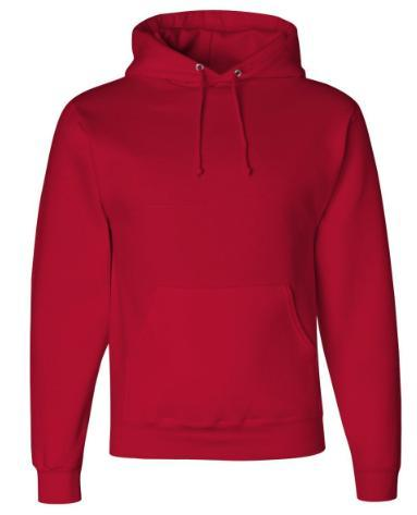 Jerzees Youth Pullover Hooded Sweatshirt 50/50 Cotton/Polyester NuBlend Pill-resistant fleece 8 oz Two-ply hood No drawcord at