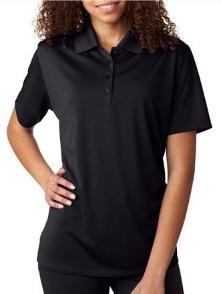 Ultraclub Ladies Cool & Dry Mesh Pique Polo UltraClub presents the piqué polo that performs, thanks to Cool and Dry moisture-wicking technology and UV protection it's like sunscreen without the