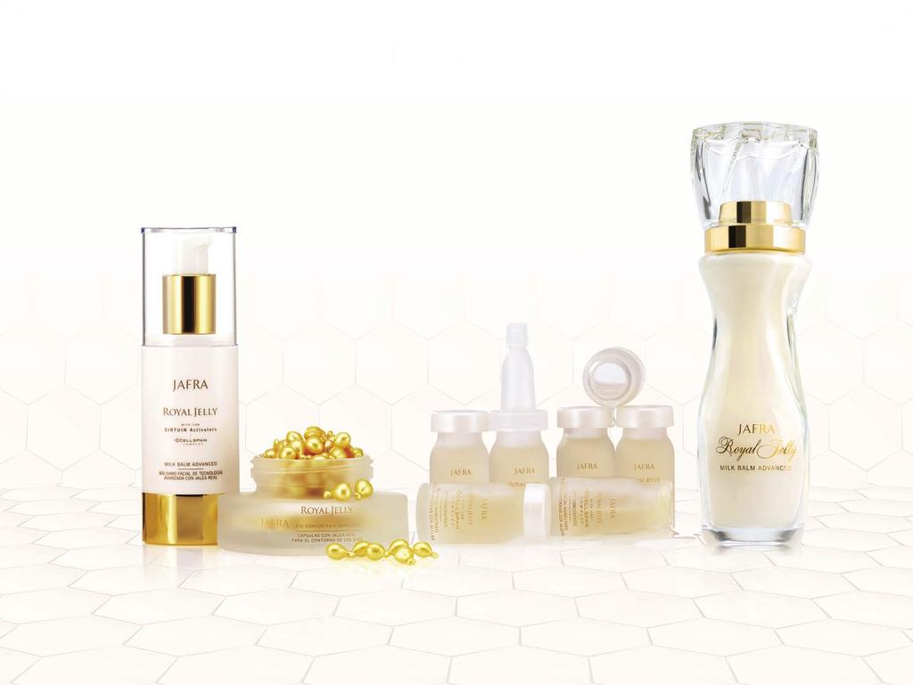 Experience timeless luxury Silky, light, and legendary, Royal Jelly is the key to prolonging youthful luminosity.