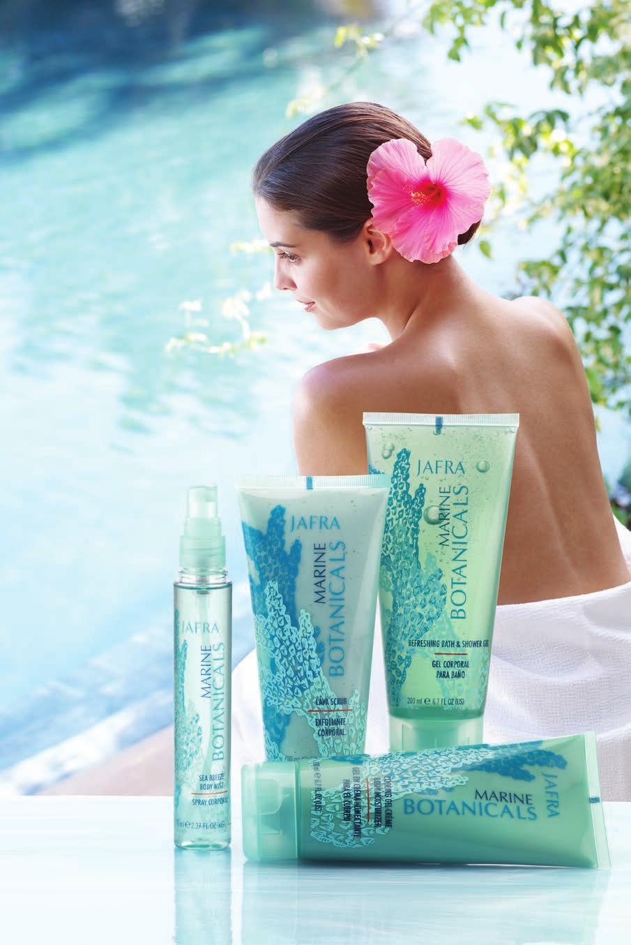 20% OFF MARINE BOTANICALS Find your escape Get the essentials Turn to JAFRA Deodorants for natural ingredients and targeted benefits. Sea Breeze Body Mist 2.37 fl. oz. $14 20597 Lava Scrub 6.