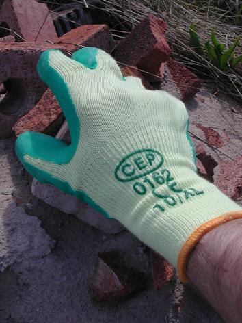 Latex Grip Glove (Green/ Orange) Ref: 0162 Sizes: Med, Large & XL 120 Per case EN 2243