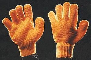 Ladies/Men s Mixed Fibre Glove Orange PVC Criss Cross Glove Ref: 0063 Sizes: 7.5/7.