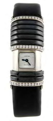 39 40 41 CARTIER - a Declaration wrist watch. Reference 2611, serial 62394CE. Signed quartz calibre 056. Plain silvered dial.