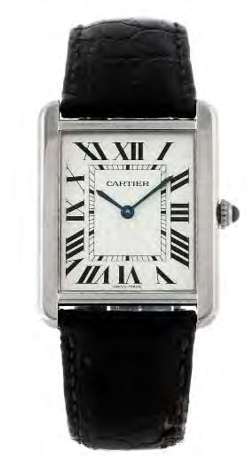 87 88 89 CARTIER - a Santos bracelet watch. Reference 1564, serial 103121CD. Signed quartz calibre 687. Silvered dial with Roman numeral hour markers, date aperture to six.