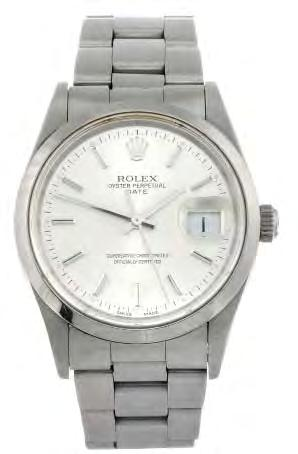 272 273 274 ROLEX - a gentleman s Oyster Perpetual Datejust bracelet watch. Circa 1997. Reference 16203, serial U174055. Signed automatic calibre 3135.