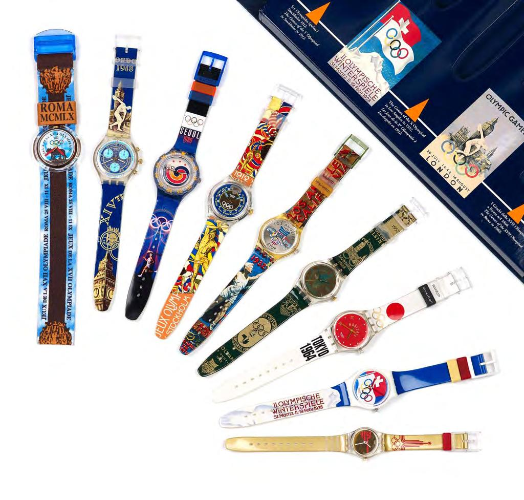 348 SWATCH - a limited edition Atlanta 1996 Historical Olympic Games Collection box set, to consist of nine watches representing the host countries,