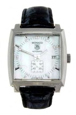 389 390 TAG HEUER - a gentleman s Monza wrist watch. Reference WW2113, serial CH2756. Signed automatic calibre 6.