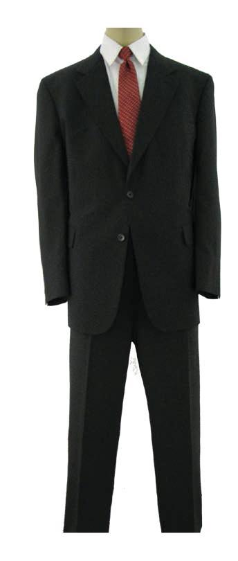 Color Buttons on Each Sleeve Center Back Vent Navy Navy Pinstripe Charcoal