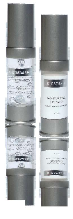 BioStrata EYE GEL & MOISTURIZING CREAM 3% contains patented active ingredients including Eyeliss & MDI Complex : Eyeliss based on peptide technology which reduces the appearance of chronic bags under