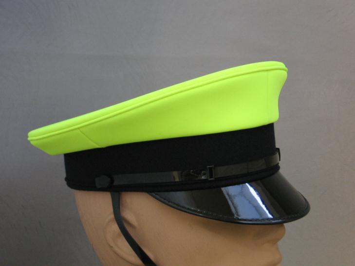 FORMAL HEADWEAR Available from stock; Gents formal cap; Features: Plain, Hi-Vis Yellow