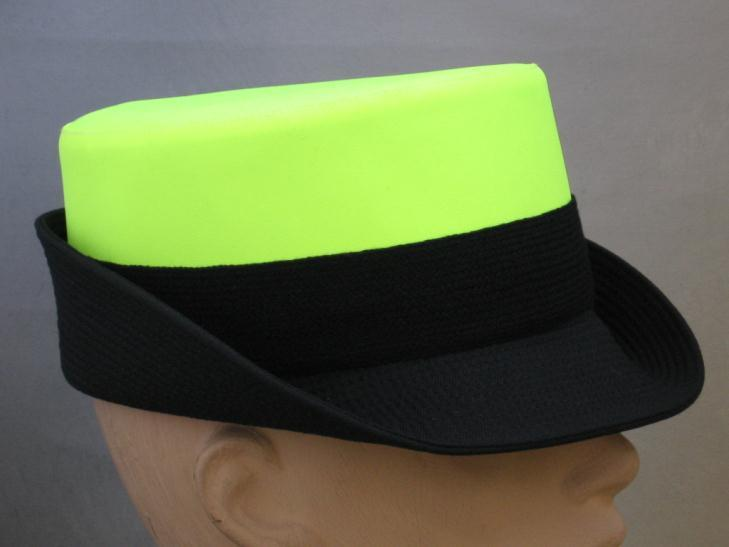 Code: X1070; Available from stock; Ladies hostess cap; Features: Plain, Hi-Vis Yellow or