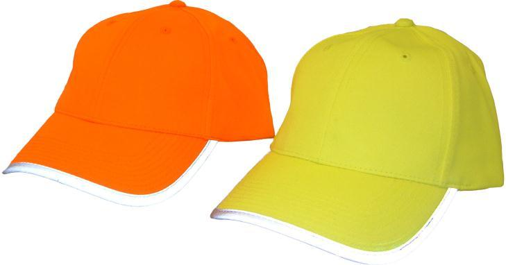 OTHER HEADWEAR Available from stock; Hi-Vis Yellow or Orange baseball cap; Features: Polyester fabric does not fade; Velcro adjuster