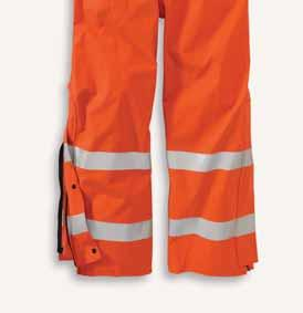 vertical stripes on front, X pattern on back ASTM F1891, F2733, and F903 requirements Meets the performance requirements of NFPA 70E 827 100447-827/Bold Orange REGULAR TALL Flame-Resistant Rainwear