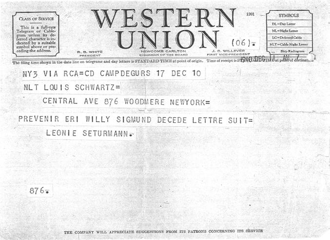 Western Union telegram,
