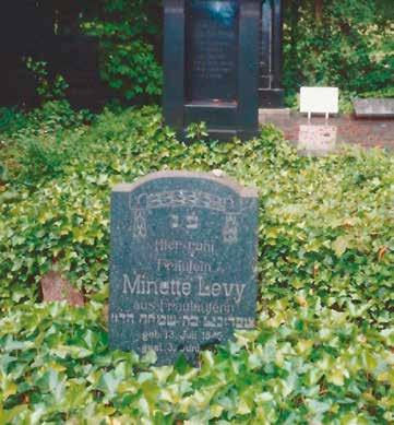 Grave of Minette Levy,