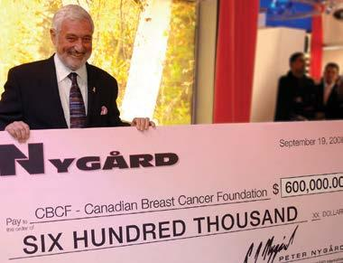 NYGÅRD For Life sponsorships include an annual endowment fund to CancerCare