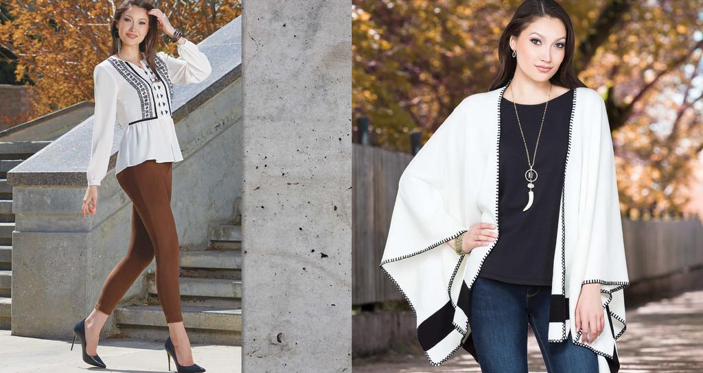 Embroidered Blouse / $79 J 041 3S6H8 Suede Jean / $69 J 011 SM173 Crop Cape / $89