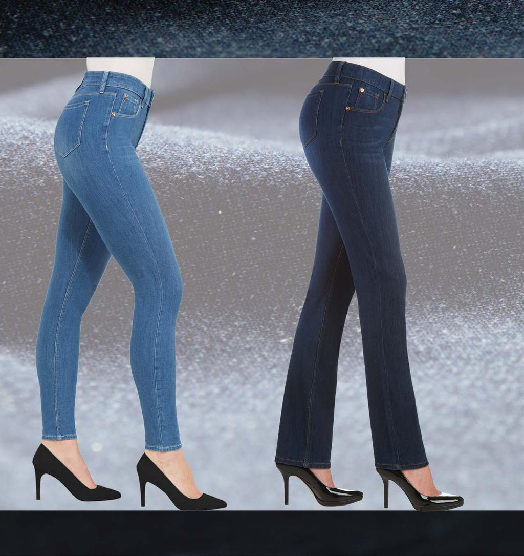 Denim Hugs & Streamlines Engineered for Comfort & Instant Slimming 24/7 Recovery & Shape Retention