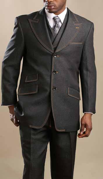 Denim-Look Suit Size