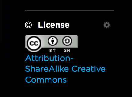 To change the license for your feed, click on the gear icon under the License menu on the bottom right of the screen.