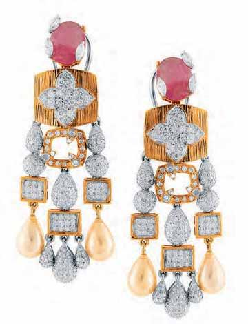 CONTEMPORARY DELIGHTS Inspired by the concept of global village, WHP Jewellers, known for their artistry and designs, introduces their Contemporary Earrings collection, an assortment of edgy and