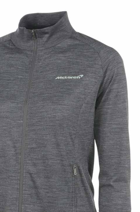 Women s Sweatshirt Using specially selected luxury merino wool fabric to maximise performance and comfort, this is a stylish and practical addition to the McLaren womenswear range.