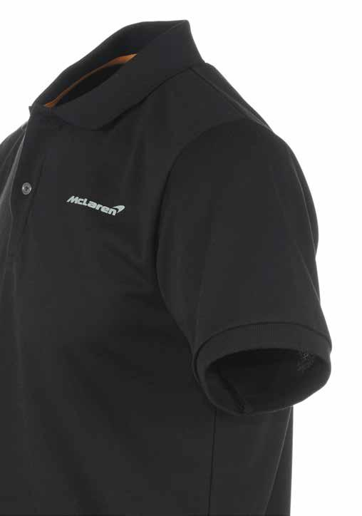 Men s Black Polo Shirt Our unique, high quality take on a timeless classic, the McLaren polo shirt is crafted from a cotton-bamboo blend which is extremely soft to the touch and very comfortable to